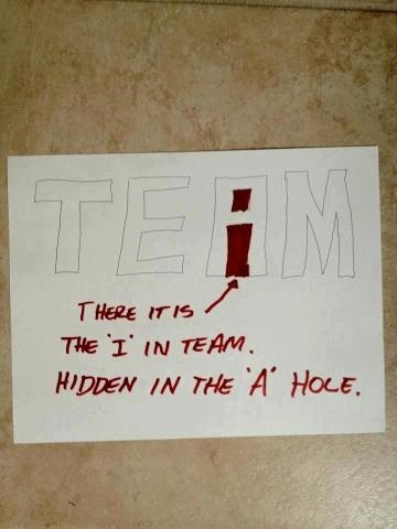 "The hidden ""I"" in team"