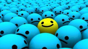 Happy Face in a sea of drones